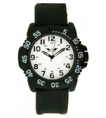 W19 BLACK_WHITE RUBBER STRAP